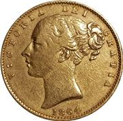 1864 Sovereign Obverse