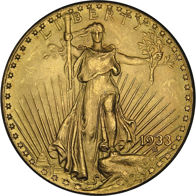 1933 Gold Double Eagle Obverse