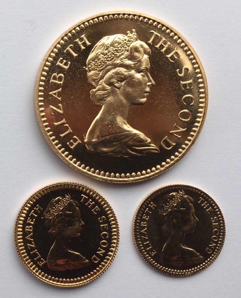 1966 Rhodesia Gold Set Obverse