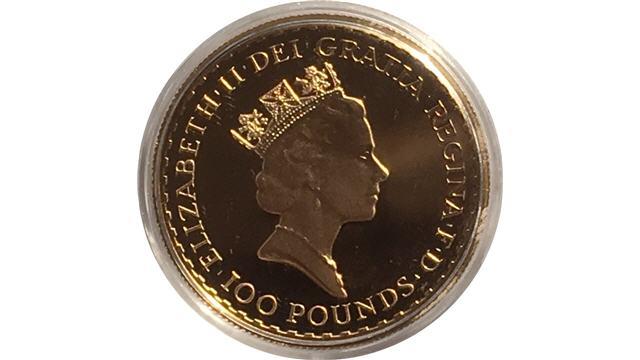 Gold Britannia Reverse