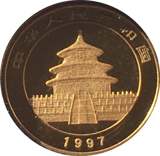 1997 Gold Panda Obverse