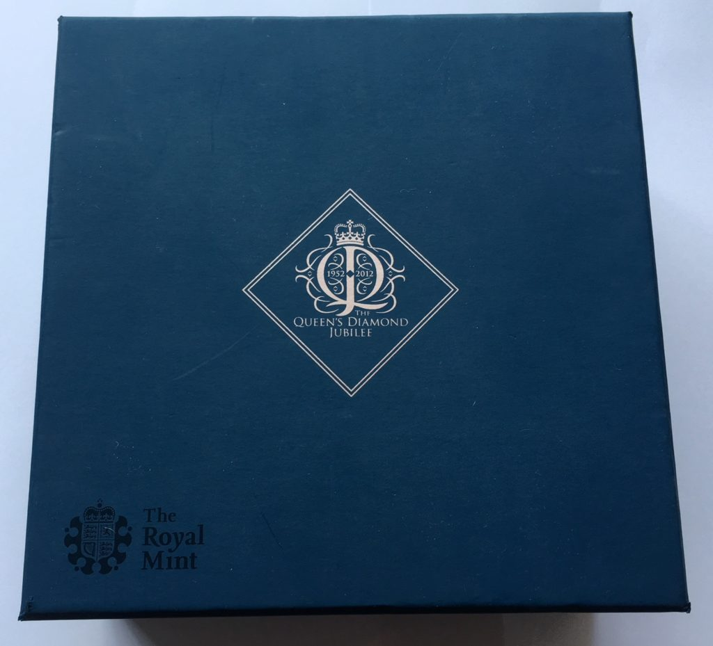 2012 Gold Ten Pounds Diamond Jubilee 5oz Box