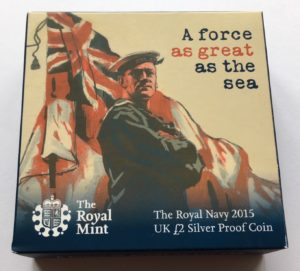 2015 Silver Two Pound Proof The Royal Navy Box 1