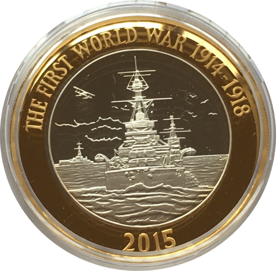 2015 Silver Two Pound Proof The Royal Navy Reverse