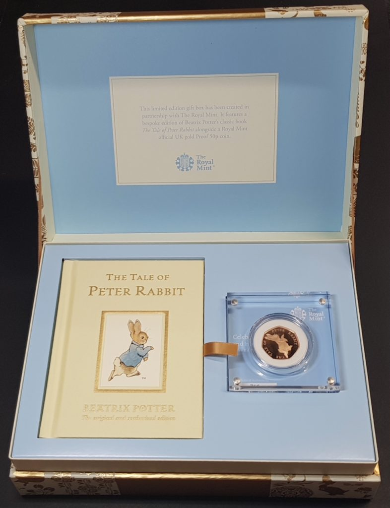 Peter Rabbit Gold 50p